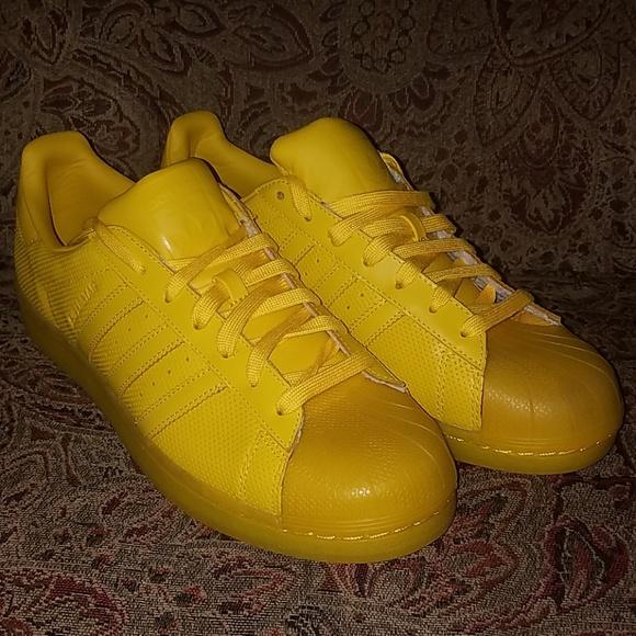 adidas superstar bright yellow